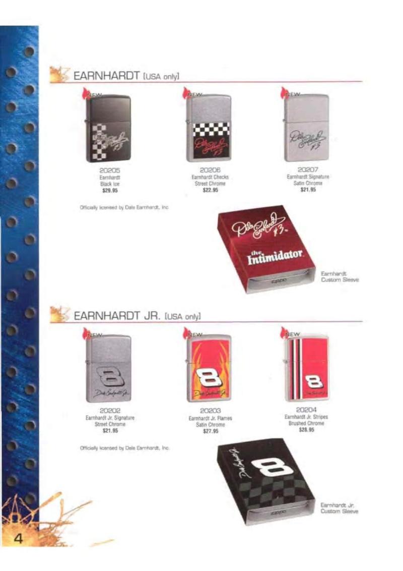 Catalogue ZIPPO 2003 Complete line (version américaine) 424