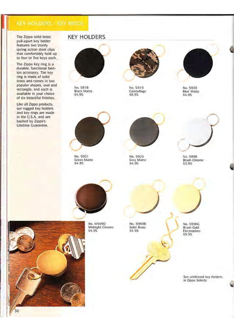 Catalogue ZIPPO Collection 1995 (version américaine) 4310