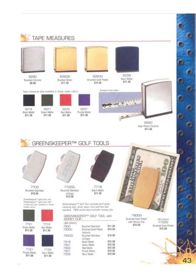 Catalogue ZIPPO 2003 Complete line (version américaine) 4313
