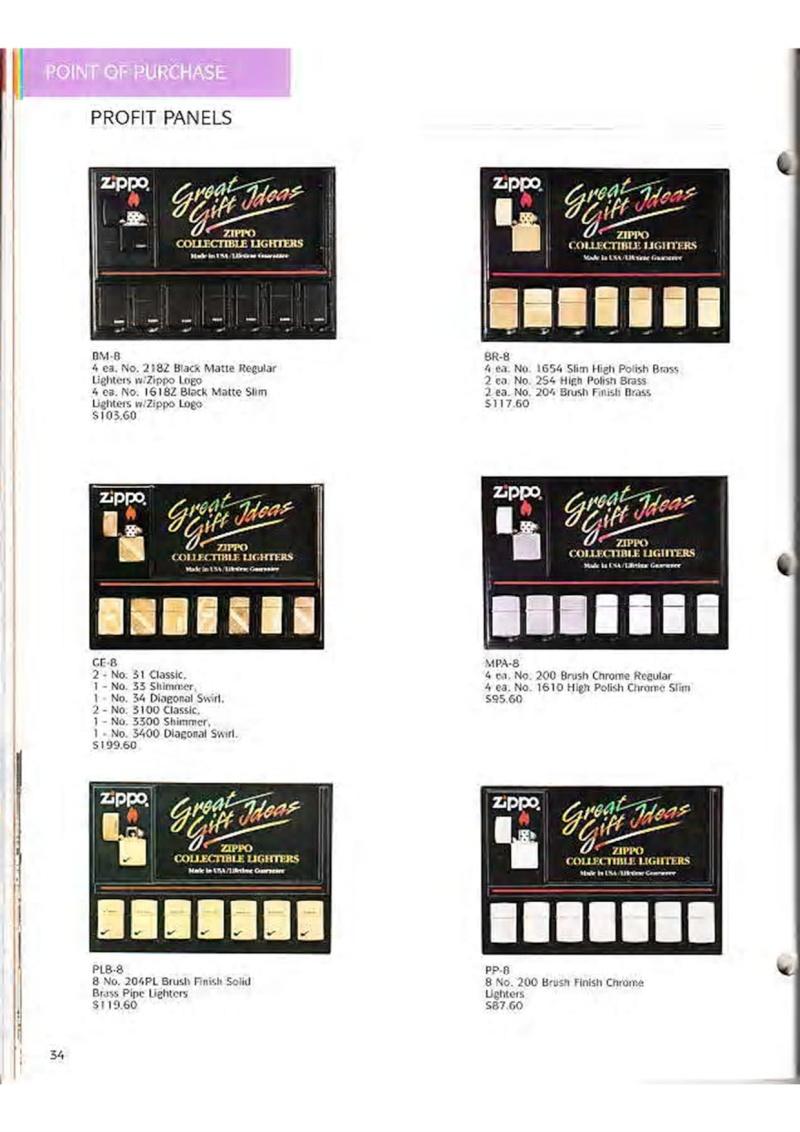 Catalogue ZIPPO Collection 1995 (version américaine) 4710