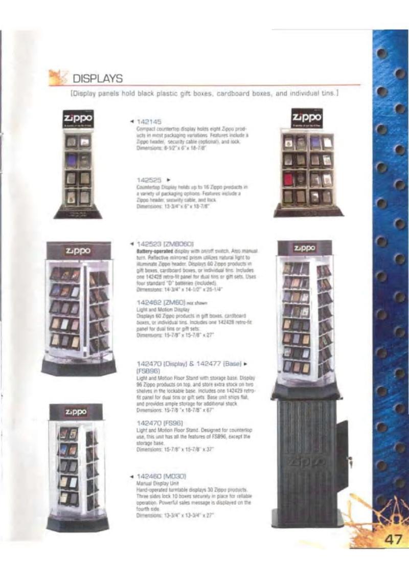 Catalogue ZIPPO 2003 Complete line (version américaine) 4713