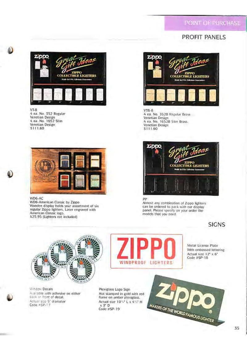Catalogue ZIPPO Collection 1995 (version américaine) 4810