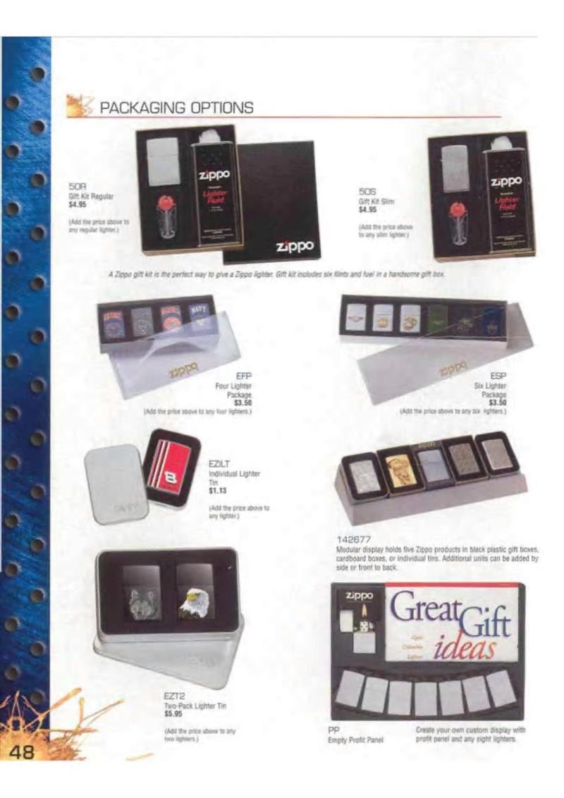 Catalogue ZIPPO 2003 Complete line (version américaine) 4813