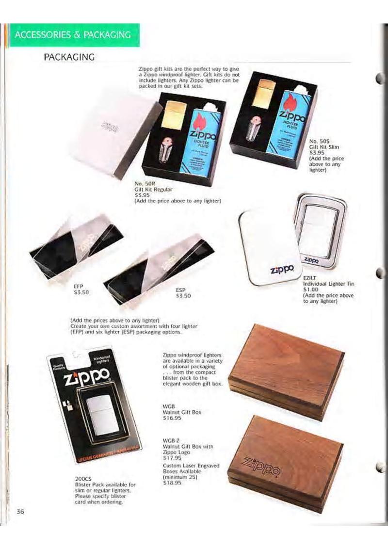 Catalogue ZIPPO Collection 1995 (version américaine) 4910