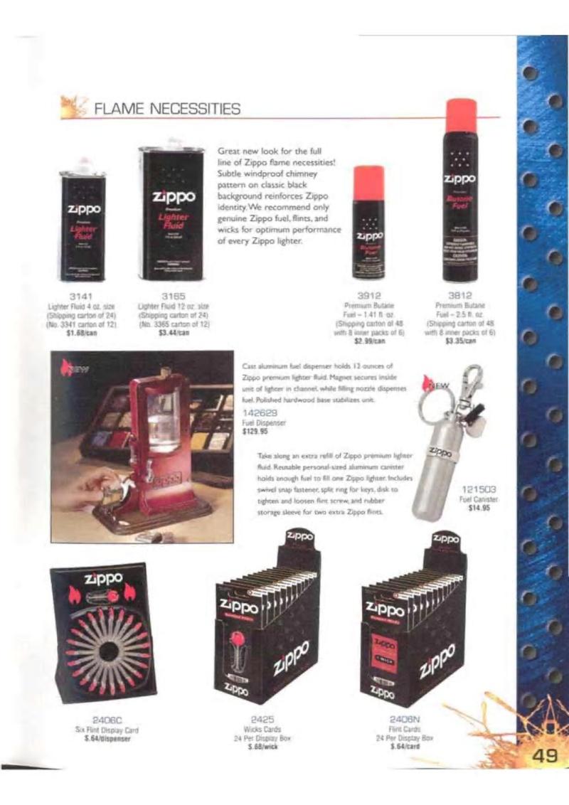 Catalogue ZIPPO 2003 Complete line (version américaine) 4913