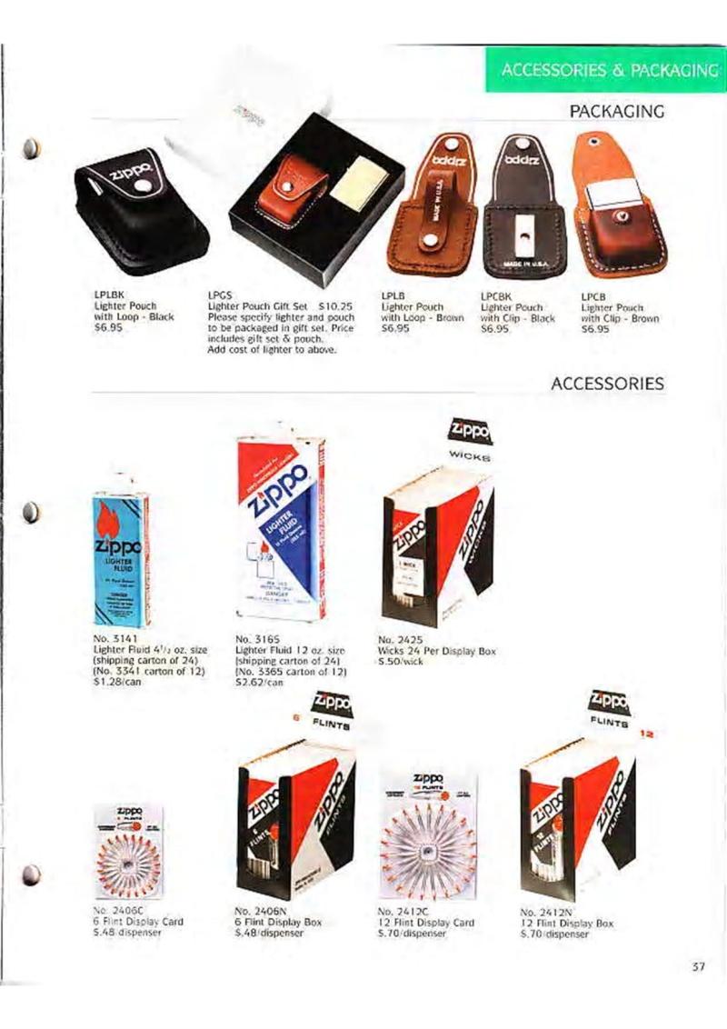 Catalogue ZIPPO Collection 1995 (version américaine) 5010
