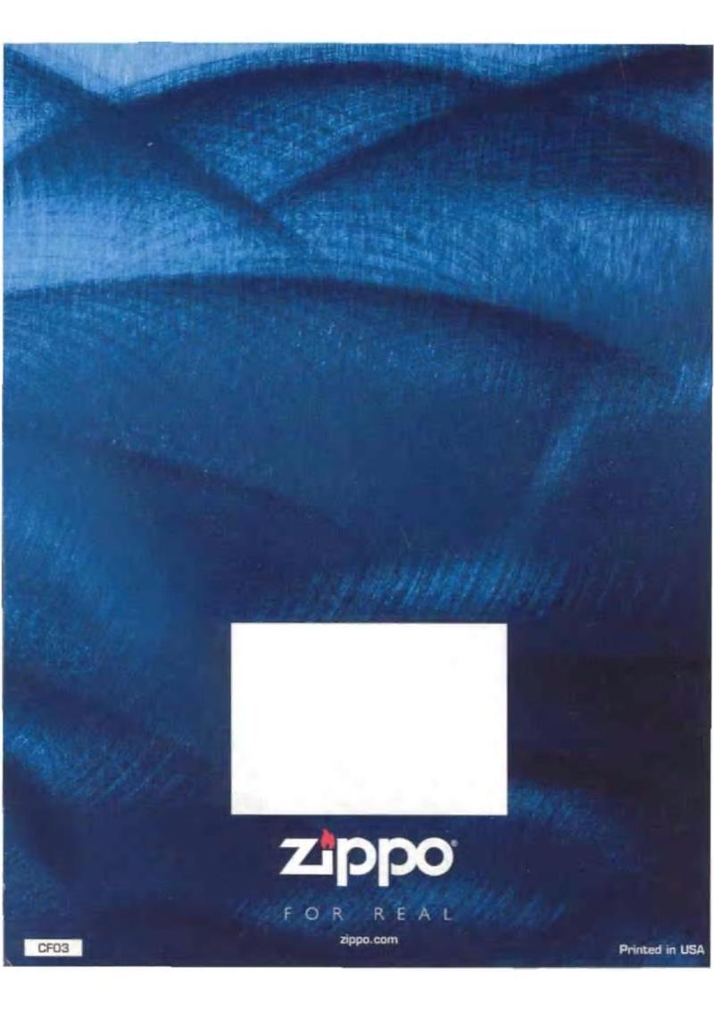 Catalogue ZIPPO 2003 Complete line (version américaine) 5013