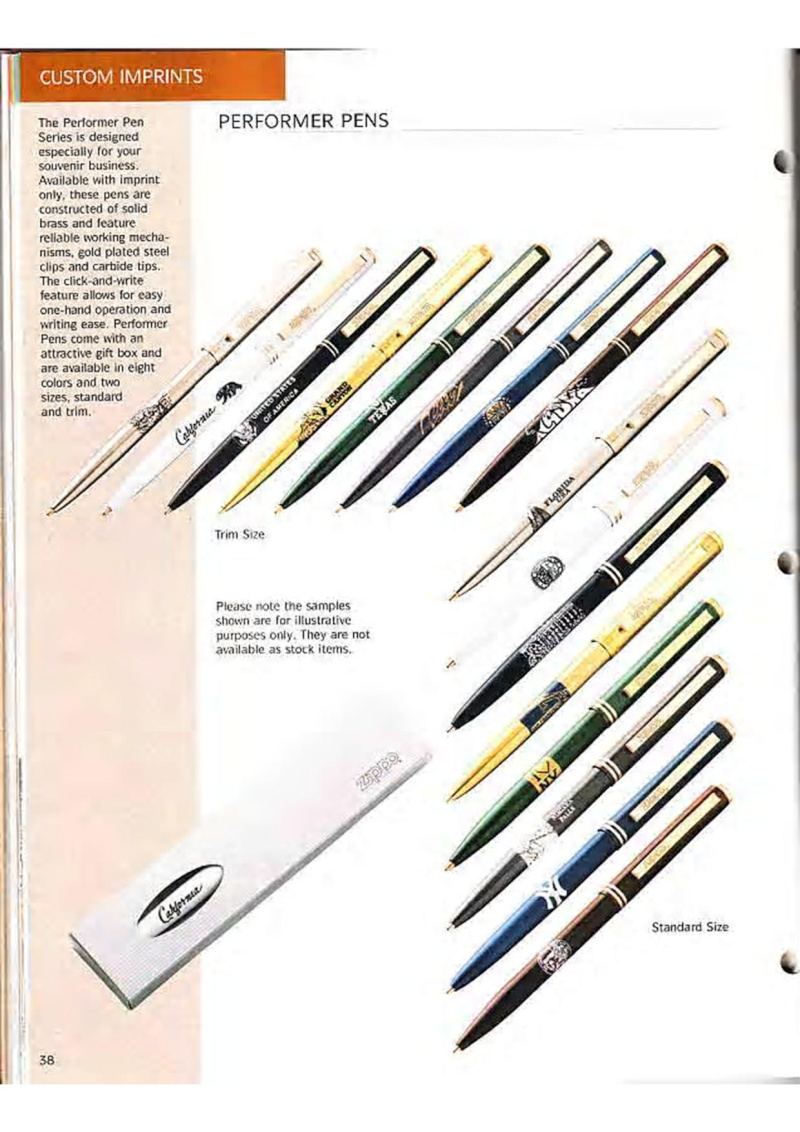 Catalogue ZIPPO Collection 1995 (version américaine) 5110