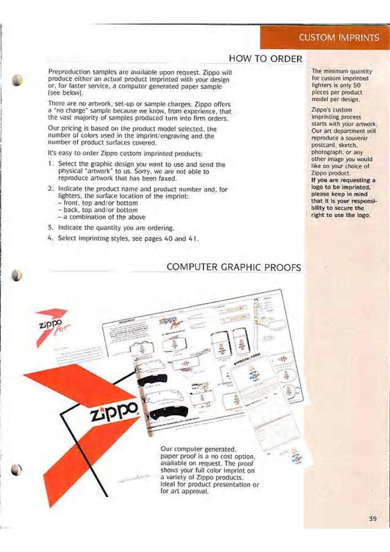 Catalogue ZIPPO Collection 1995 (version américaine) 5210