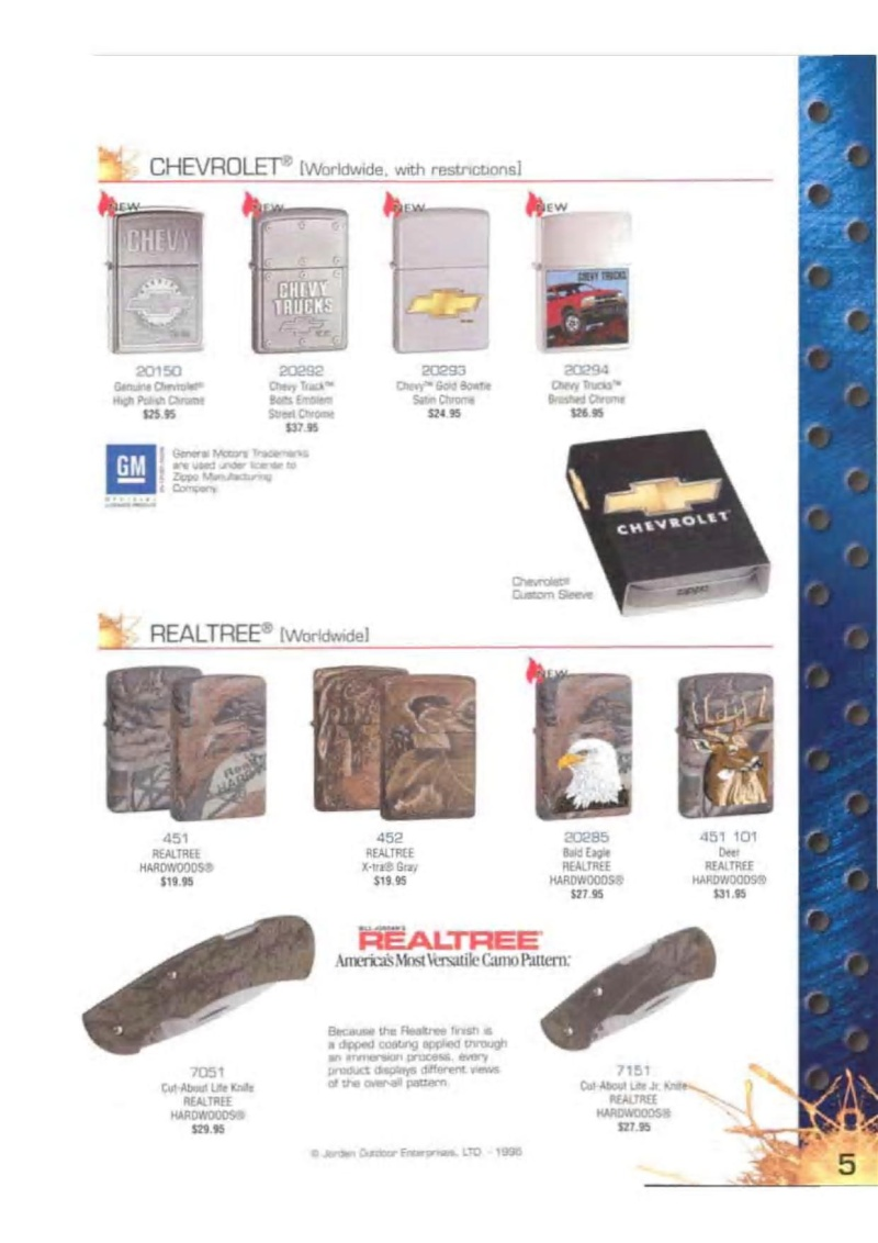 Catalogue ZIPPO 2003 Complete line (version américaine) 523