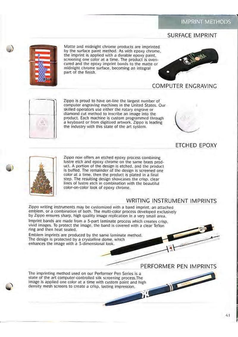 Catalogue ZIPPO Collection 1995 (version américaine) 5410