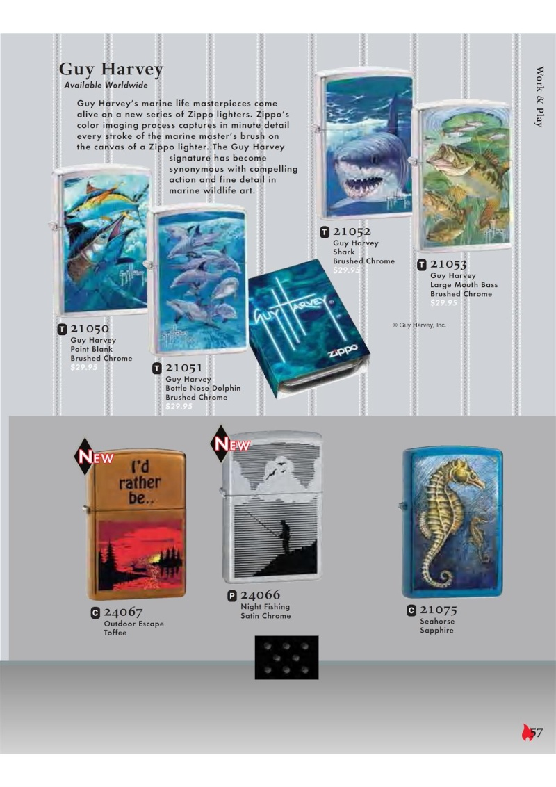 Catalogue ZIPPO 2007 Complete line (version américaine) 5710