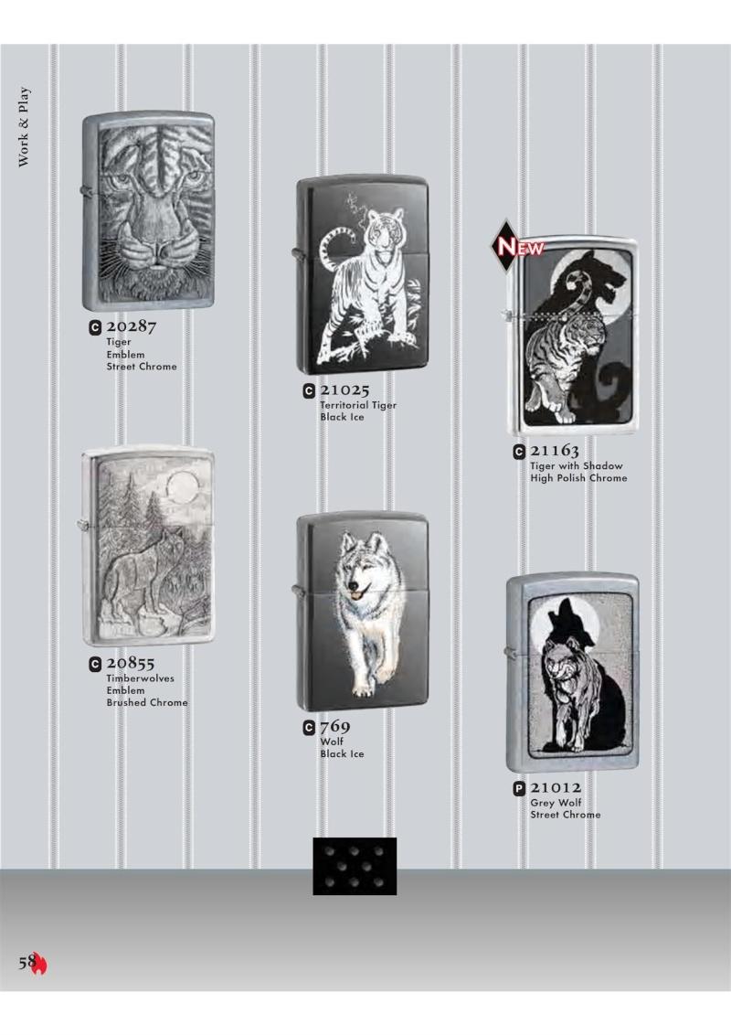 Catalogue ZIPPO 2007 Complete line (version américaine) 5810