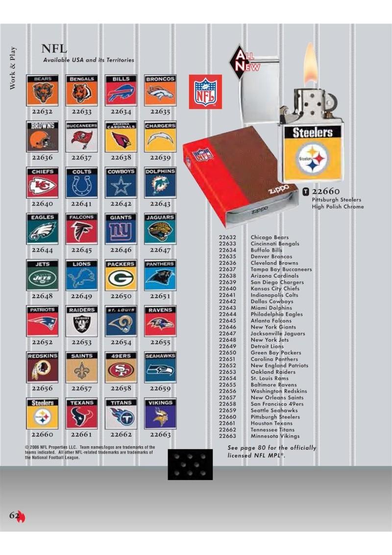 Catalogue ZIPPO 2007 Complete line (version américaine) 6210