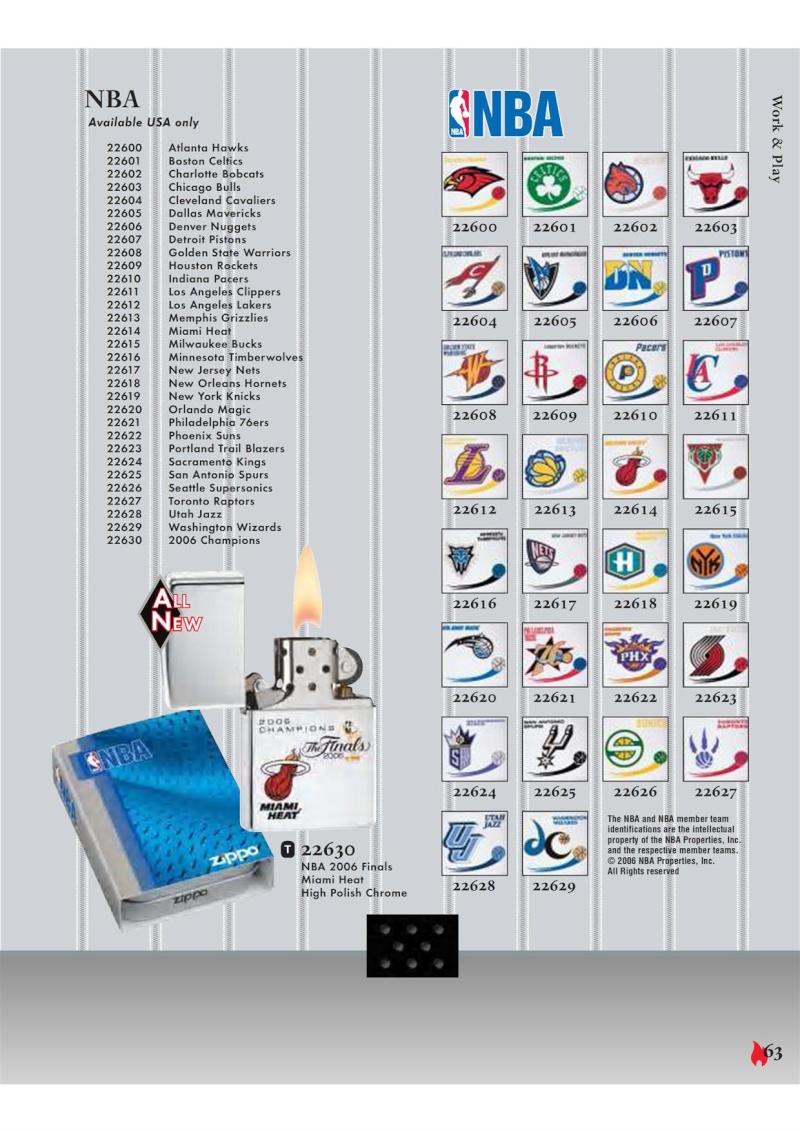 Catalogue ZIPPO 2007 Complete line (version américaine) 6310
