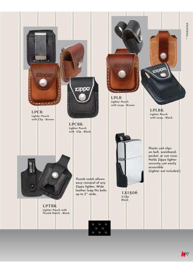 Catalogue ZIPPO 2007 Complete line (version américaine) 6710