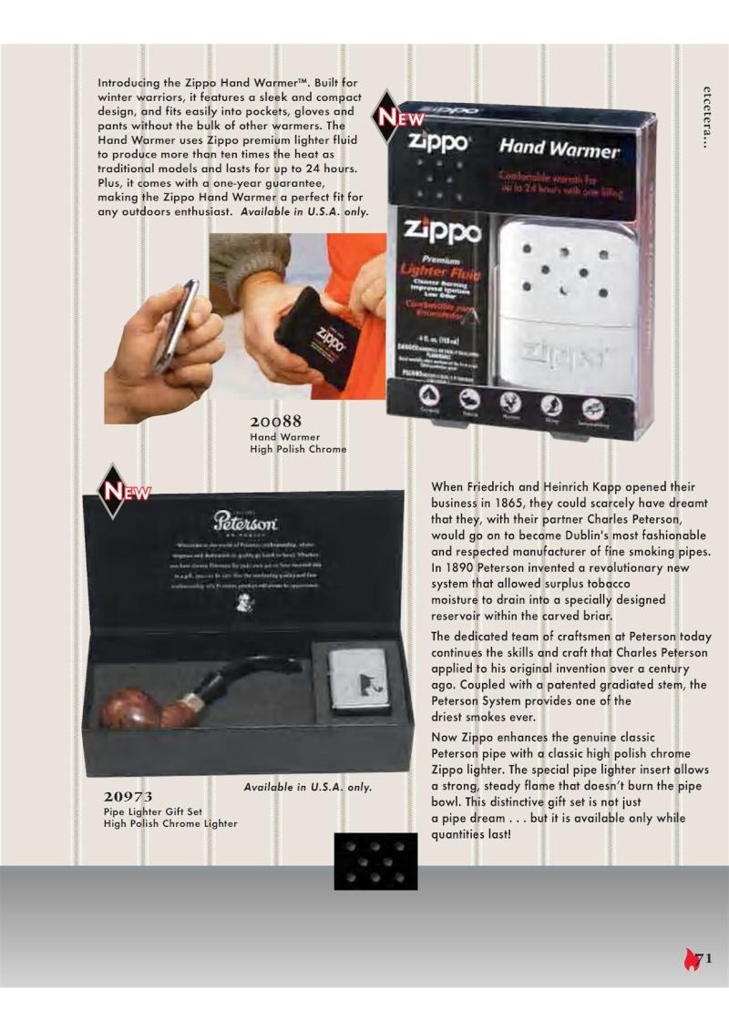 Catalogue ZIPPO 2007 Complete line (version américaine) 7110