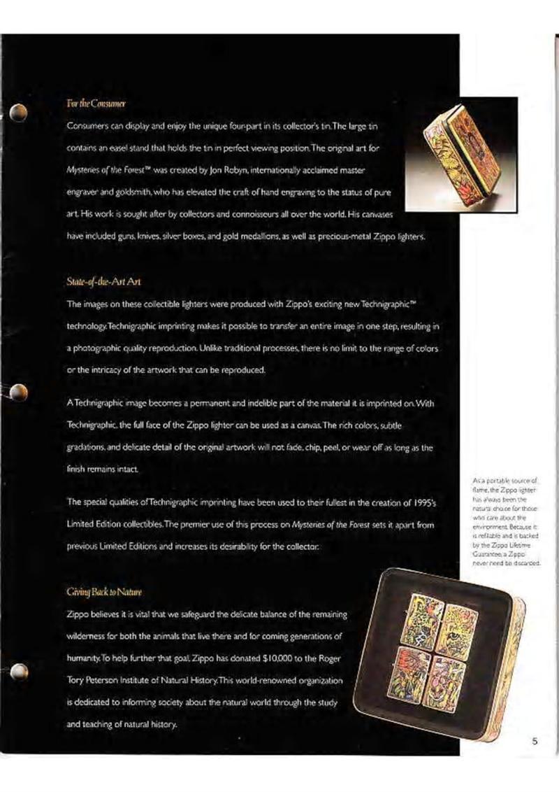 Catalogue ZIPPO Collection 1995 (version américaine) 718