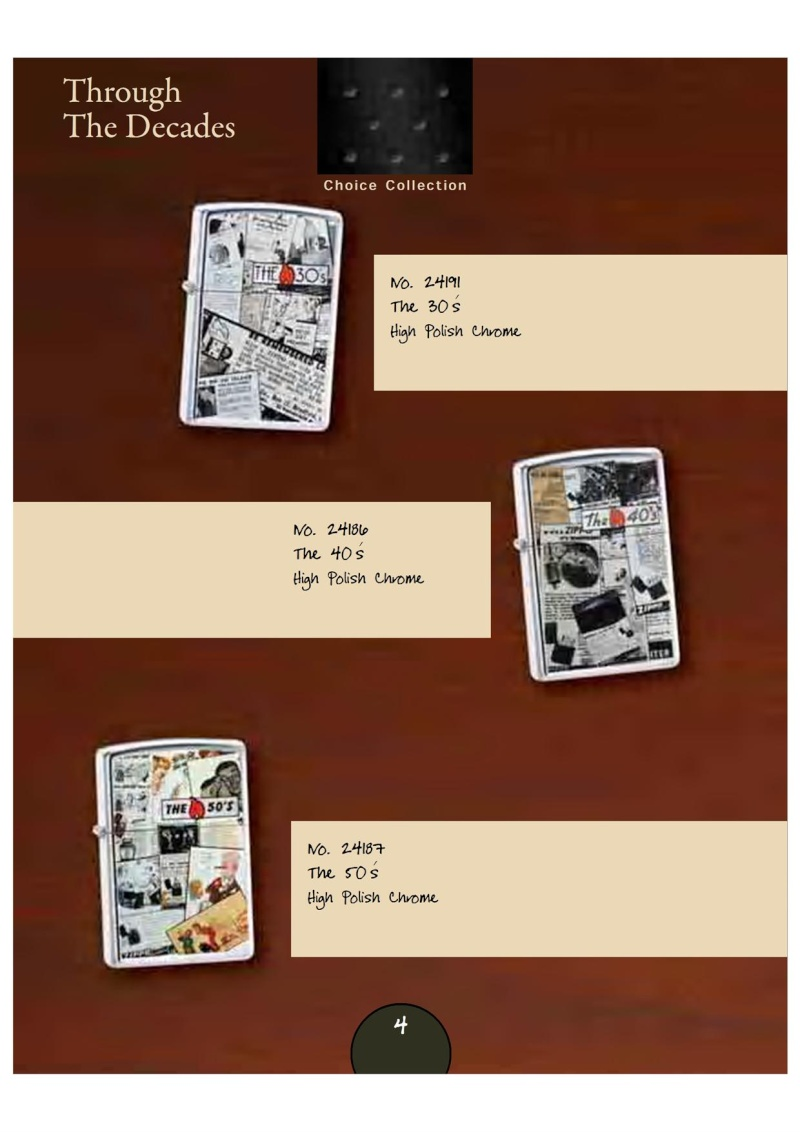 Catalogue Zippo 2007_08 Choice Anniversary Edition 719