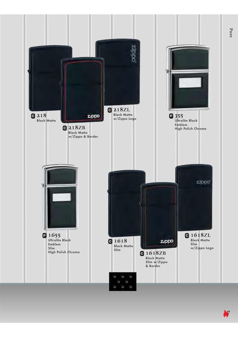 Catalogue ZIPPO 2007 Complete line (version américaine) 720