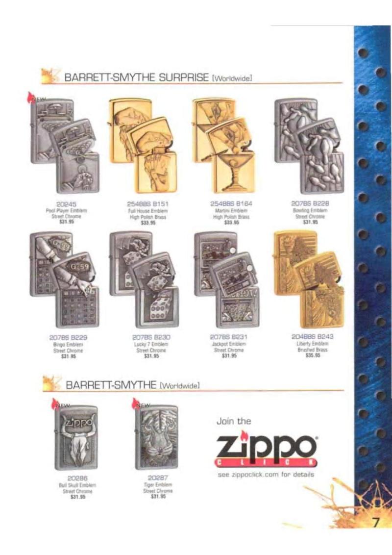 Catalogue ZIPPO 2003 Complete line (version américaine) 723