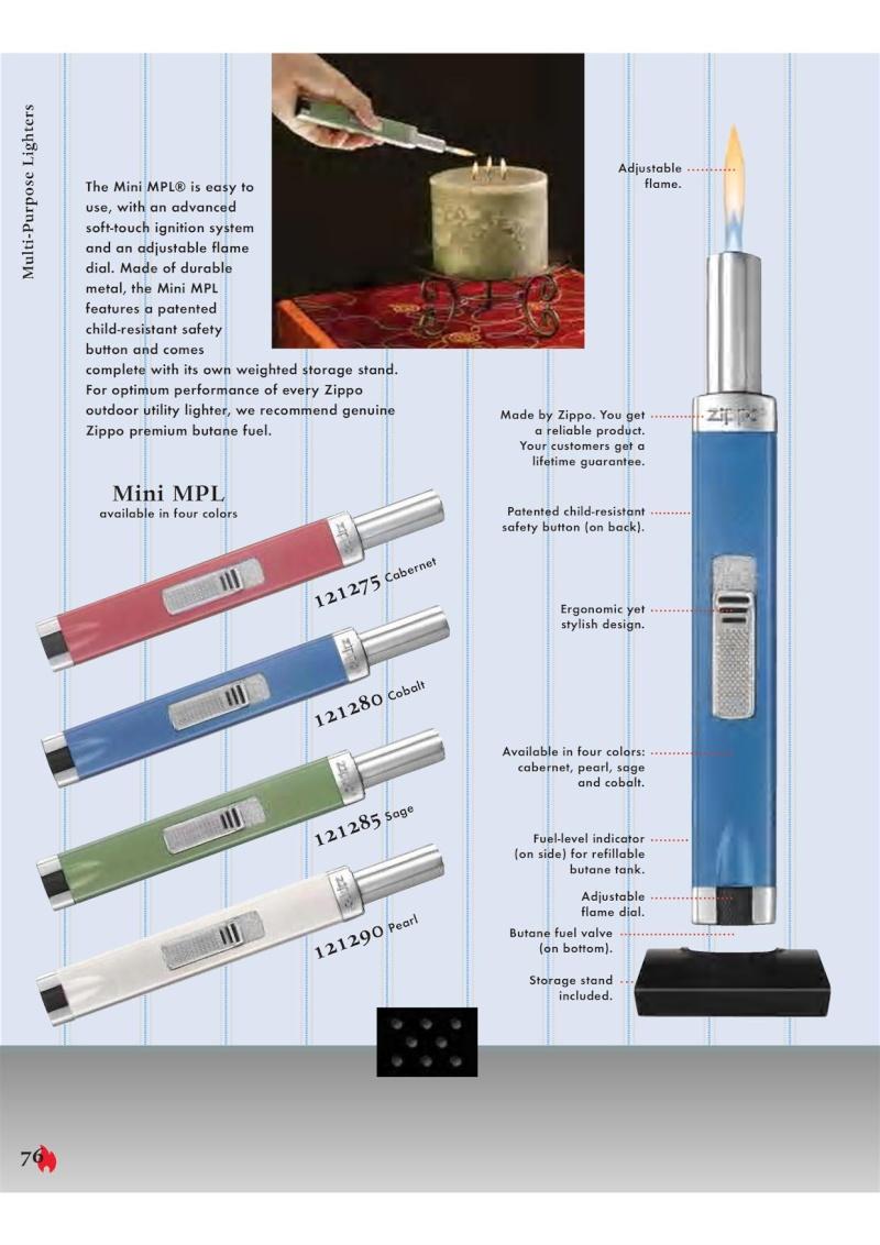 Catalogue ZIPPO 2007 Complete line (version américaine) 7610