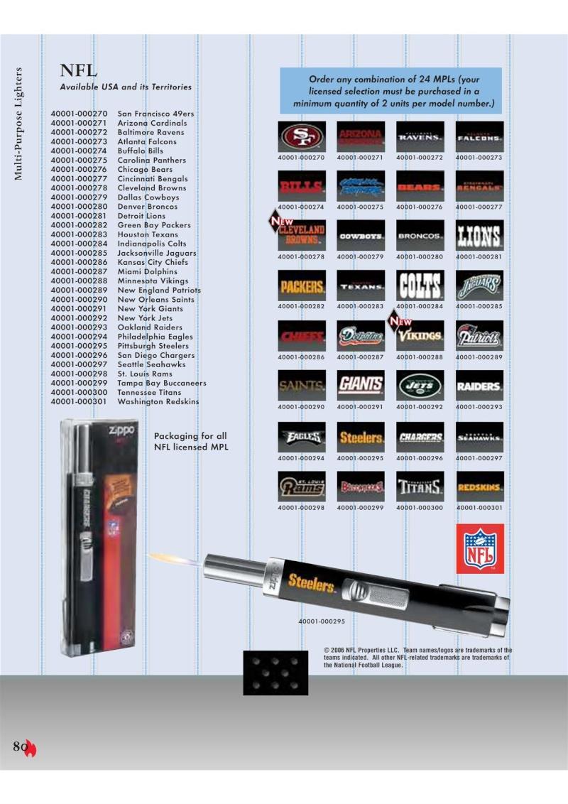 Catalogue ZIPPO 2007 Complete line (version américaine) 8010