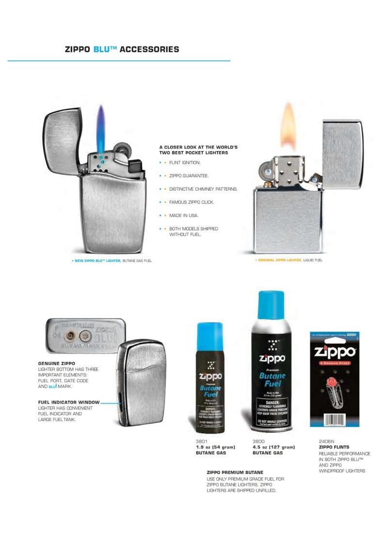 2007 ZippoBLU Butane Gas Lighter Catalog 818