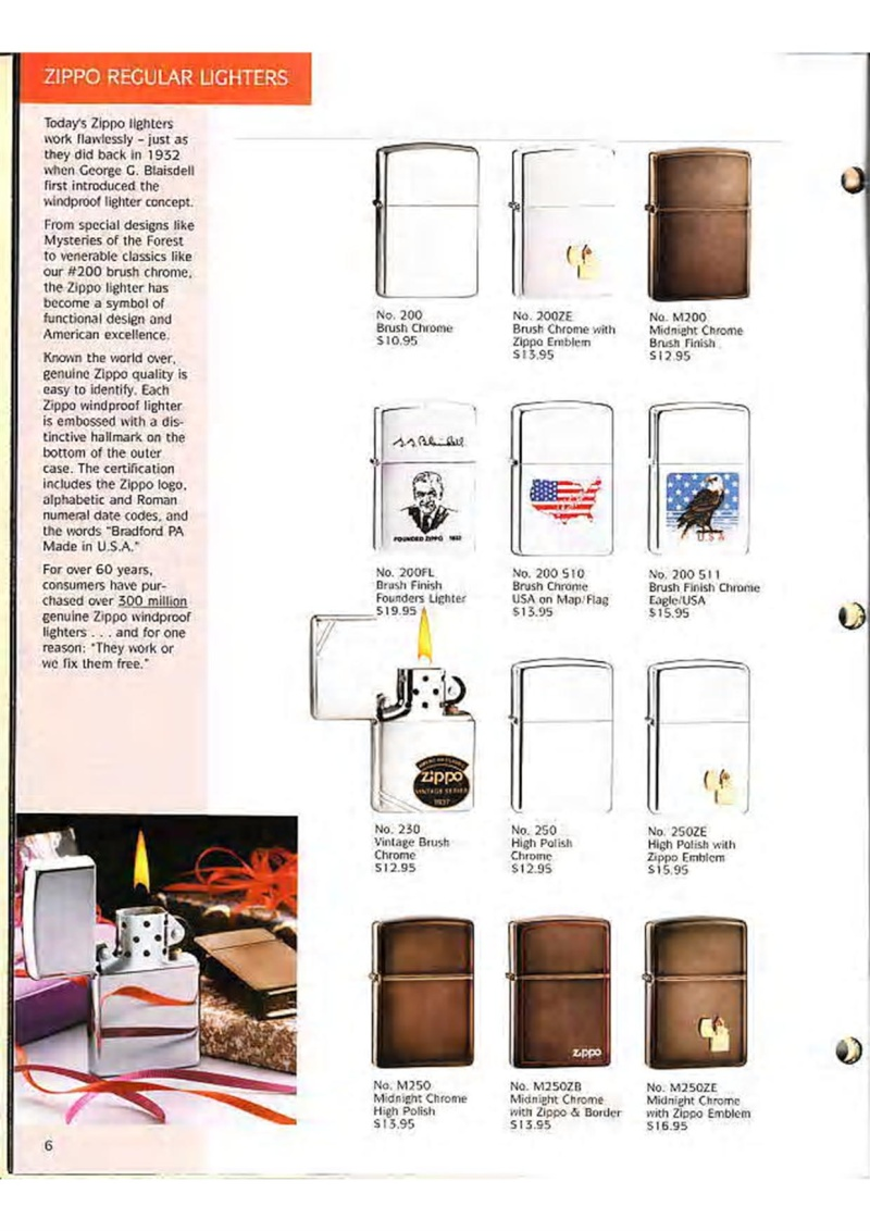 Catalogue ZIPPO Collection 1995 (version américaine) 819