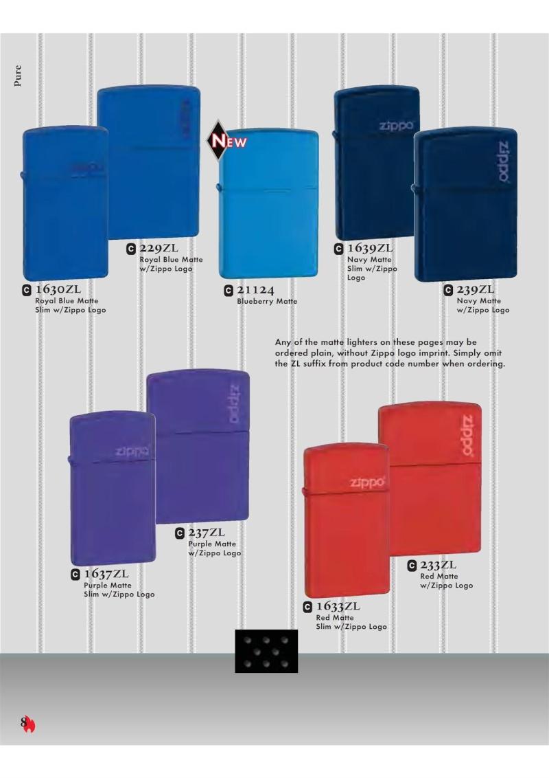 Catalogue ZIPPO 2007 Complete line (version américaine) 821