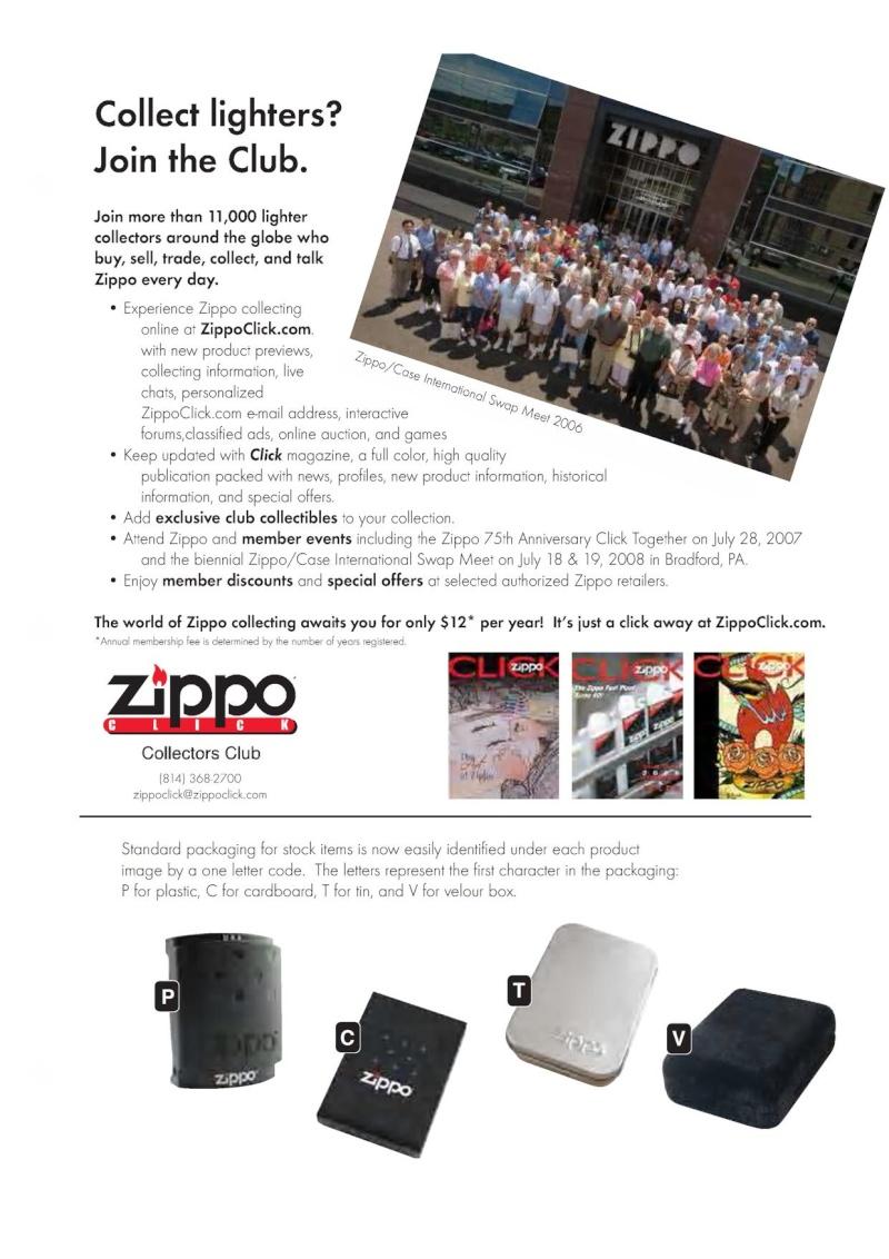 Catalogue ZIPPO 2007 Complete line (version américaine) 8310