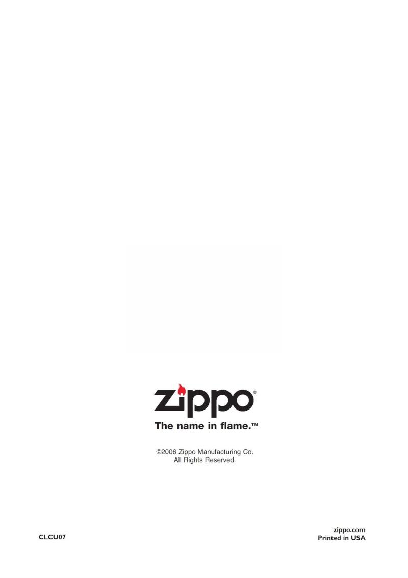Catalogue ZIPPO 2007 Complete line (version américaine) 8410