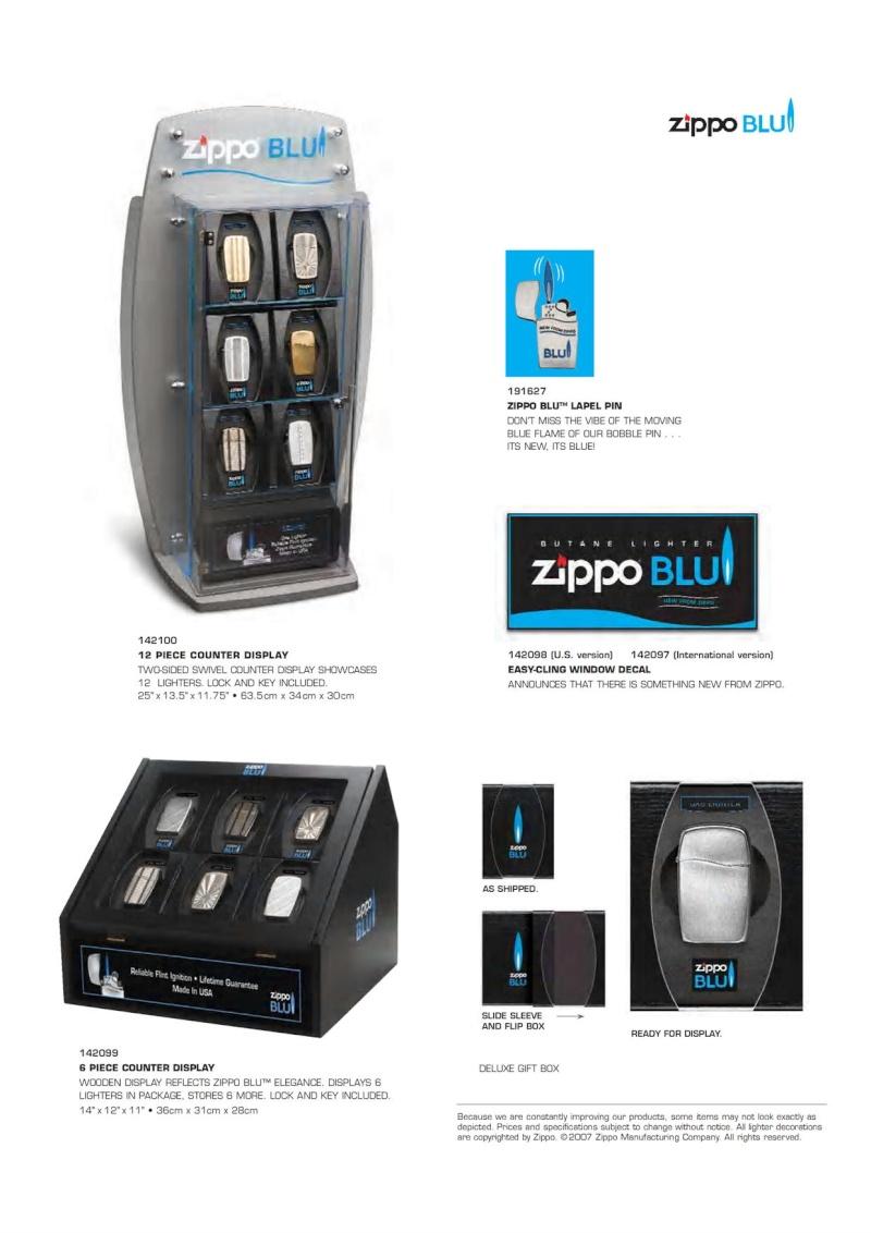 2007 ZippoBLU Butane Gas Lighter Catalog 915