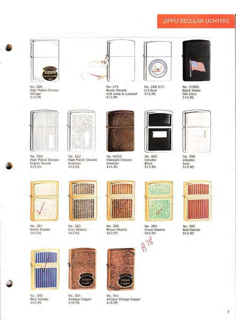 Catalogue ZIPPO Collection 1995 (version américaine) 916
