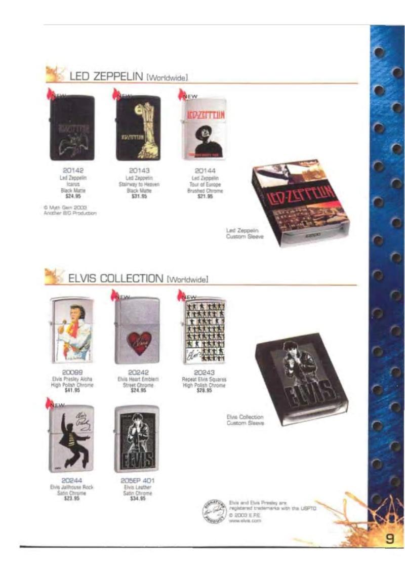 Catalogue ZIPPO 2003 Complete line (version américaine) 921