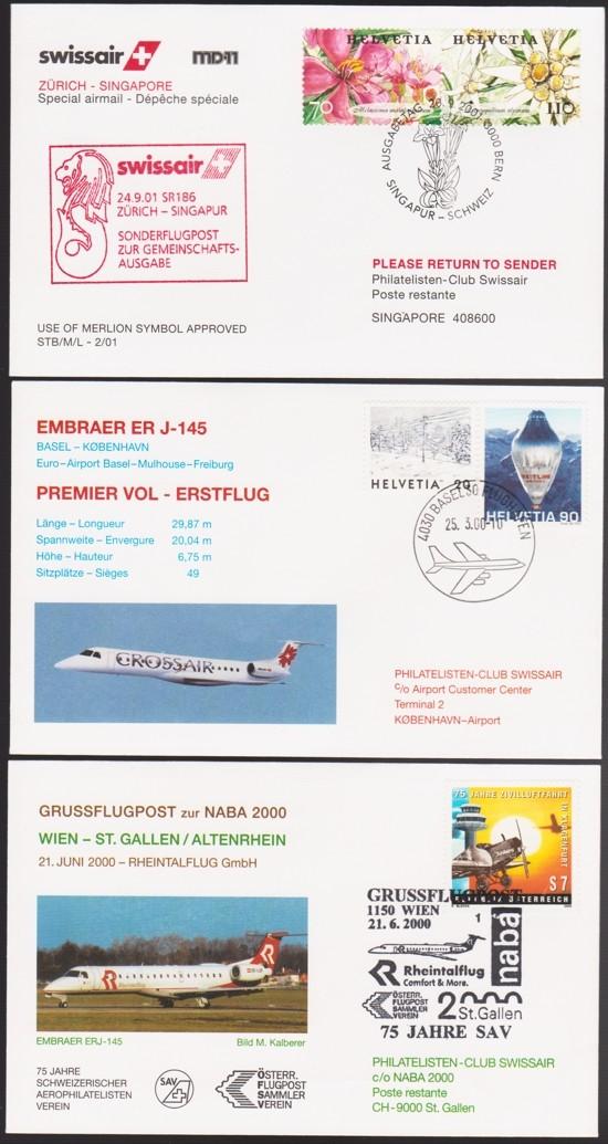 Luftfahrt Tauschbelege 1-310
