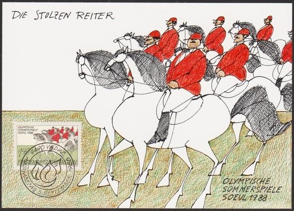 Horses / Pferde (Marken auf Brief oder Karte) Lichte10