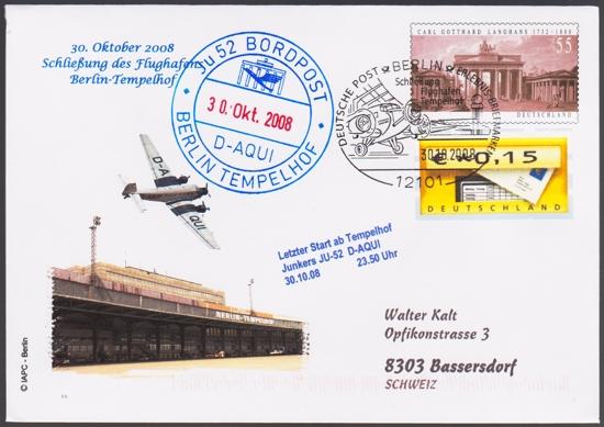 Erstflüge, Sonderflüge und neue Ballonpost - Seite 4 Tempel13