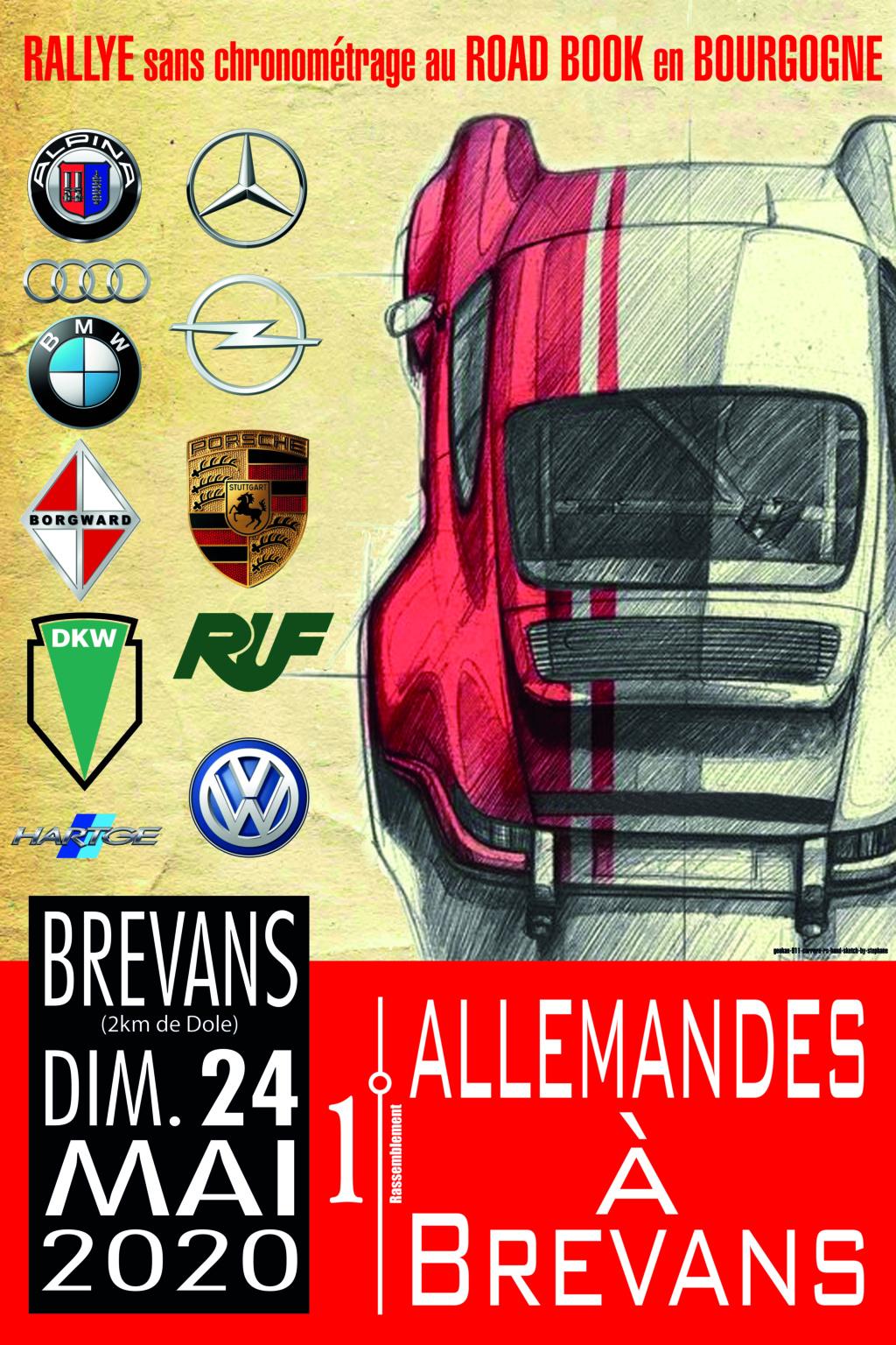 """Rallye """"Les allemandes à Brevans"""" le 24 mai 2020 Affich10"""