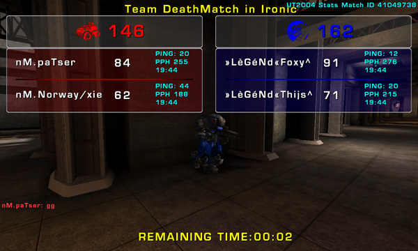 Match »LèGéNd« vs nM Sunday 02 November 2008 21:00 hours CET (iTDM Fallcup 5th match 2 vs 2) Legend13