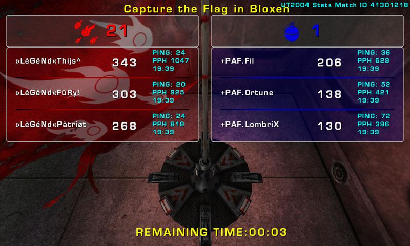 Match »LèGéNd« vs PAF Wednesday 19 November 2008 21:00 hours (ladder 3 vs 3) Legend18