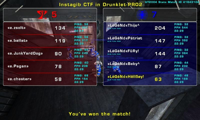 Match »LèGéNd« vs CCG  Tuesday 23 December  2008 21:00 hours CET (iCTF Ladder 5 vs 5) Legend32