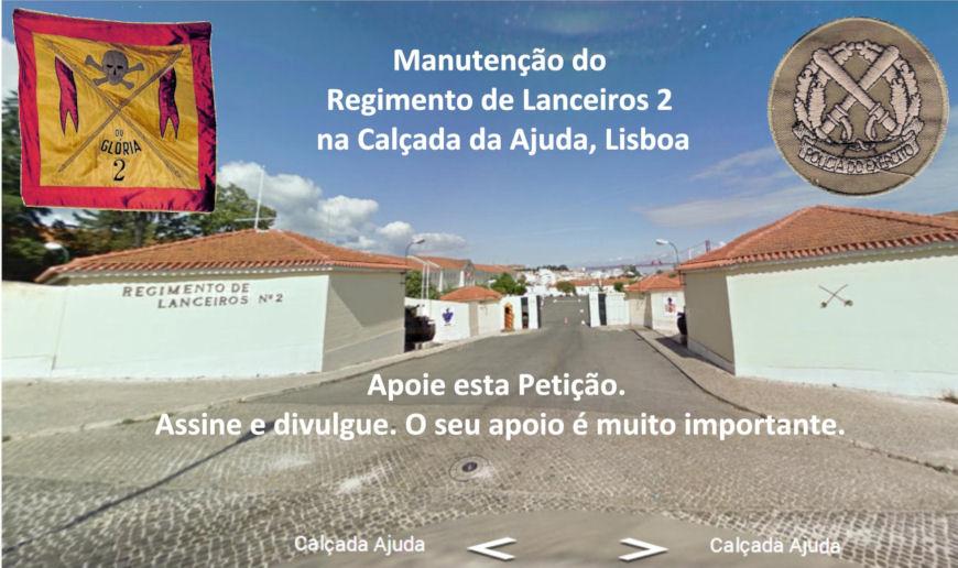 Manutenção do Regimento de Lanceiros 2 na Calçada da Ajuda, Lisboa Rl210