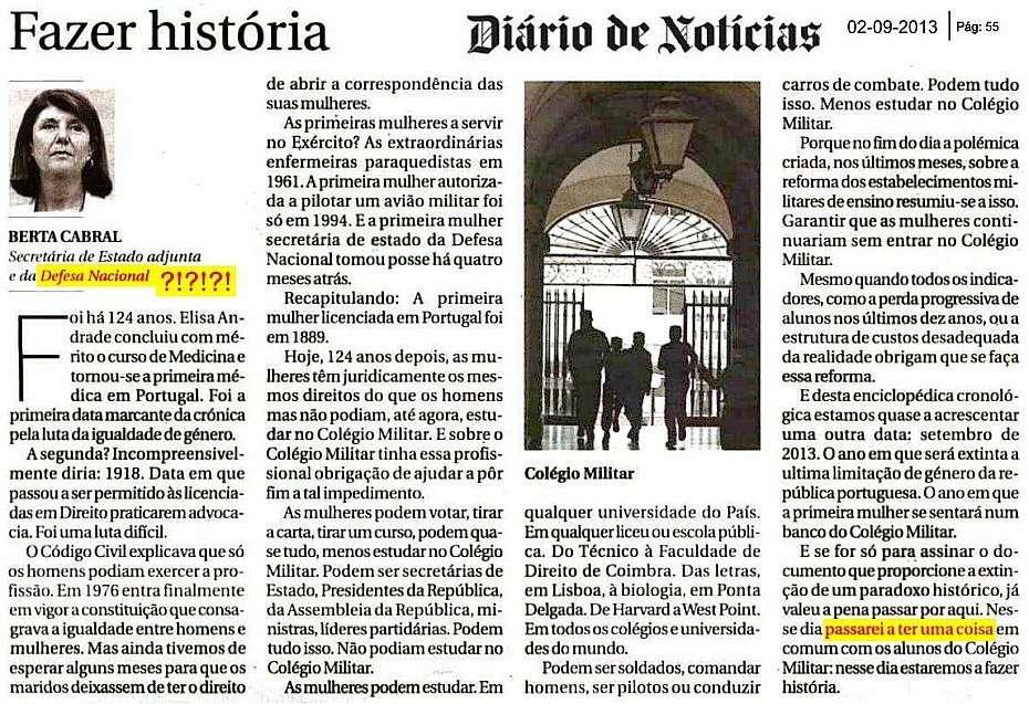 Colégio Militar - Roberto Durão, coronel 'cmd', responde a Dona Berta, secretária adjunta. Um-exe10