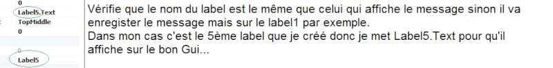 """Fonction """"Say"""" & Fond item dans Inventaire Label10"""