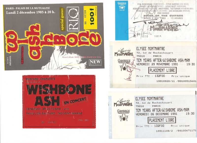 Vous avez encore vos vieux tickets de concerts du Ash ? Wishbo10