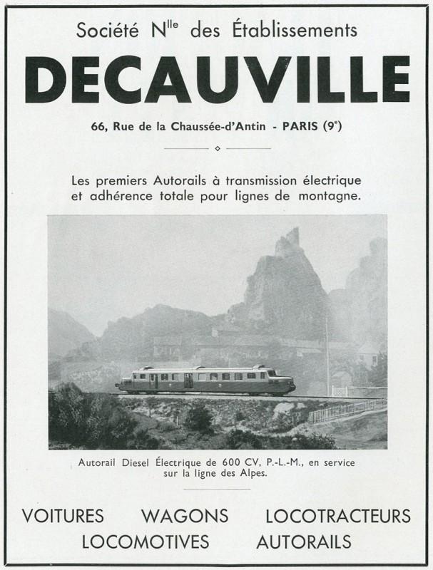 Les Autorails DECAUVILLE X 52100 - Page 2 Affich10