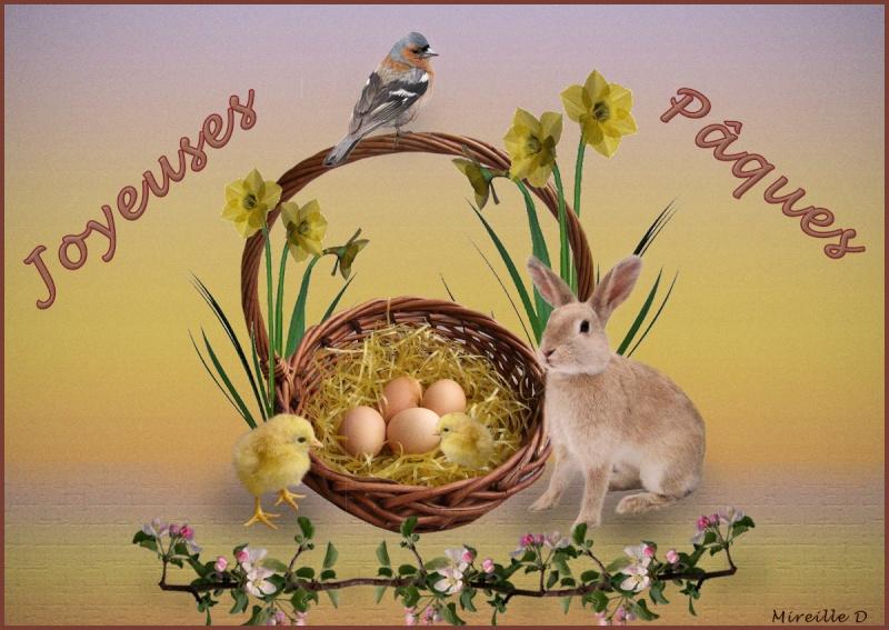 Pâques et ses oeufs Carte-10