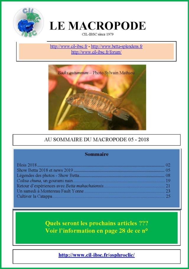 Sommaire de la revue du Macropode. - Page 3 2018-014