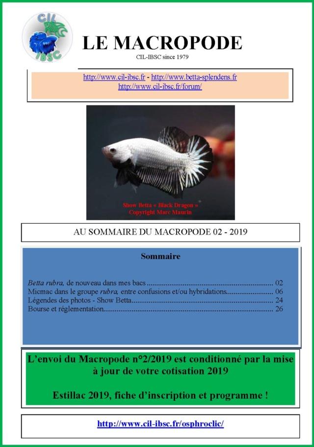 Sommaire de la revue du Macropode. - Page 3 2019-012
